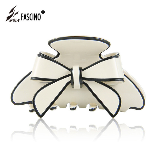 2017 New Fashion High Quality Women Hair Accessories Acetate Claw Clip Cute Bow Large Size Hair Claw For Girls Tiara (CY820045)