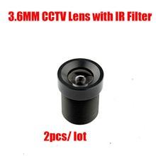 DIY 2PCS/Lot 3.6mm 850nm IR Filter M12 Mount Fixed Focus CCTV Lens For CCTV Megapixle IP USB Camera