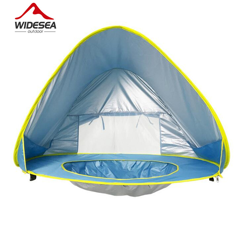Widesea Baby beach tent uv-protecting sunshelter with a pool waterproof pop up awning tent kid outdoor camping sunshade beach