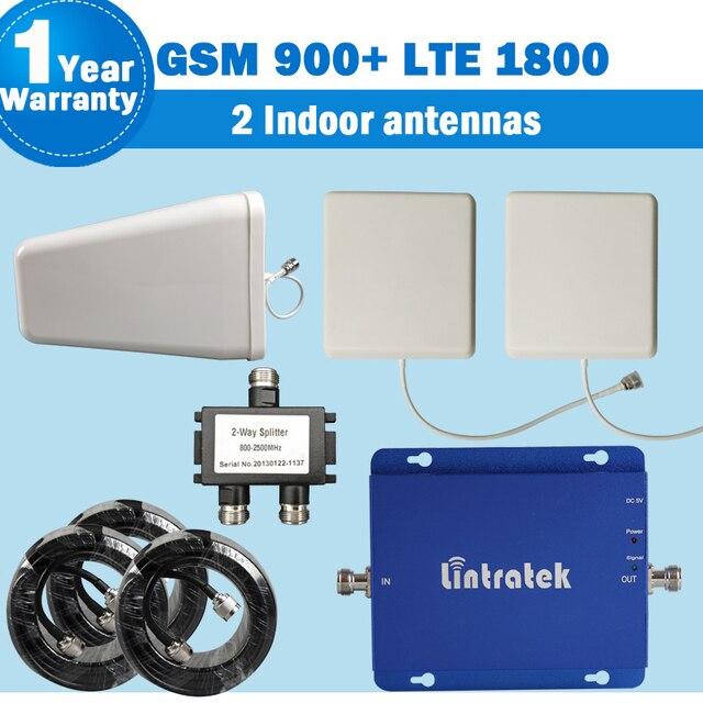 2 Внутренних Антенн GSM 900 мГц 4 Г LTE 1800 мГц Двухдиапазонный 65dB Усиления Мобильного Телефона Сигнал Повторителя GSM Сотовых усилитель Amplificador