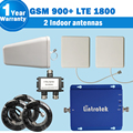 2 Indoor Antennas GSM 900mhz 4G LTE 1800mhz Dual Band 65dB Gain Cellphone Signal Repeater GSM Cellular Booster Amplificador