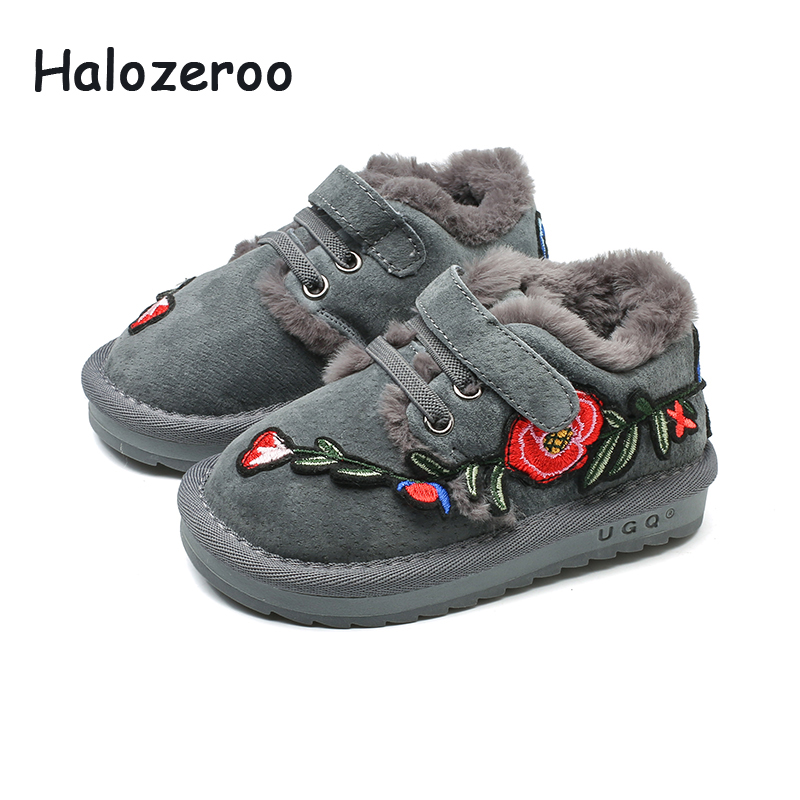 Halozeroo New Winter Baby Girl Genuine Leather Snow Boots Children Flower Soft Boots Toddler Fur Warm Shoes Boy Brand Black BootHalozeroo New Winter Baby Girl Genuine Leather Snow Boots Children Flower Soft Boots Toddler Fur Warm Shoes Boy Brand Black Boot
