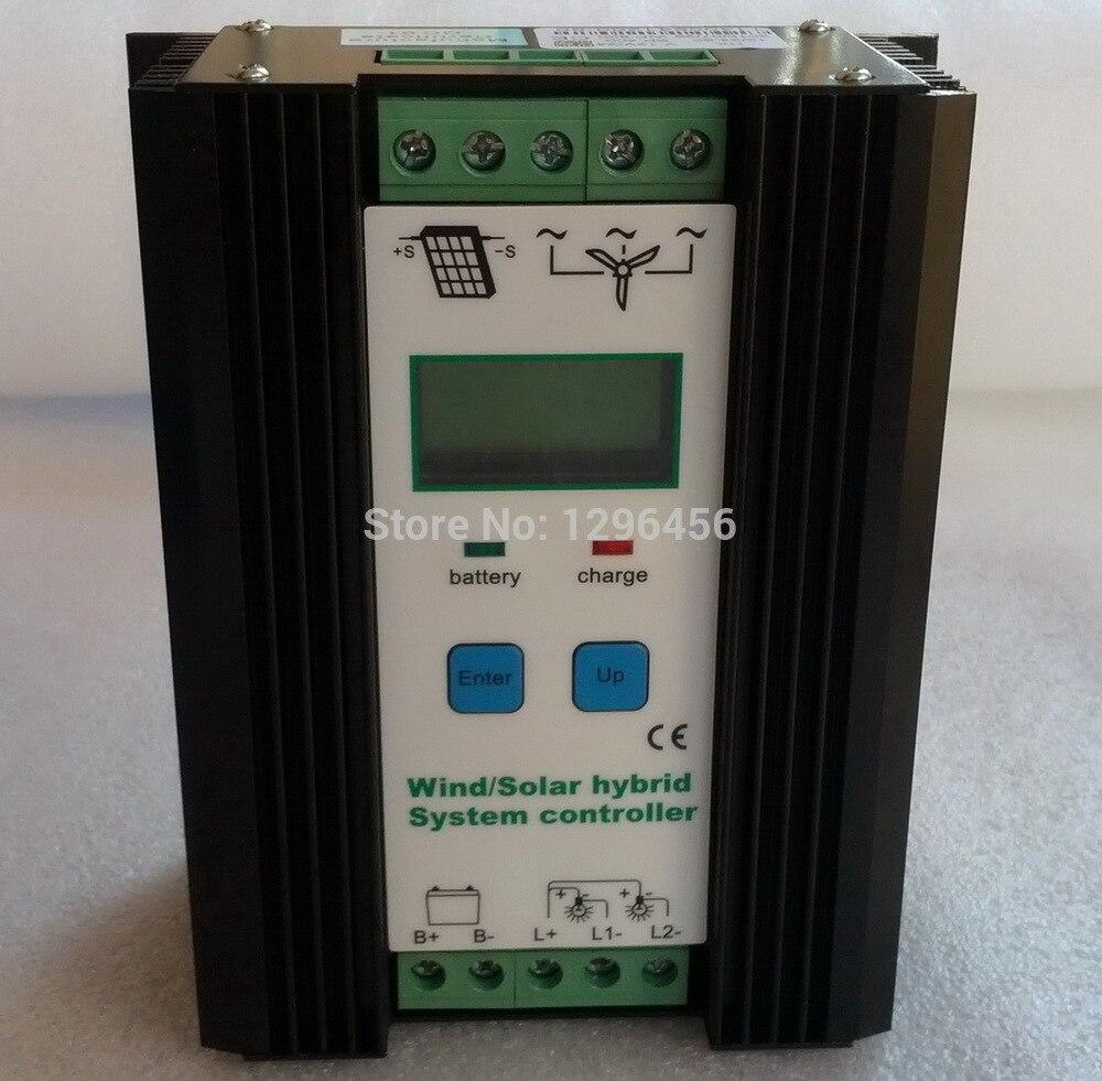 Wind Solar Hybrid Controller 80A 1200W MPPT Solar Power 400W, Wind Generator 800W, 12V 24V Intelligent Hybrid Charge Controller цена