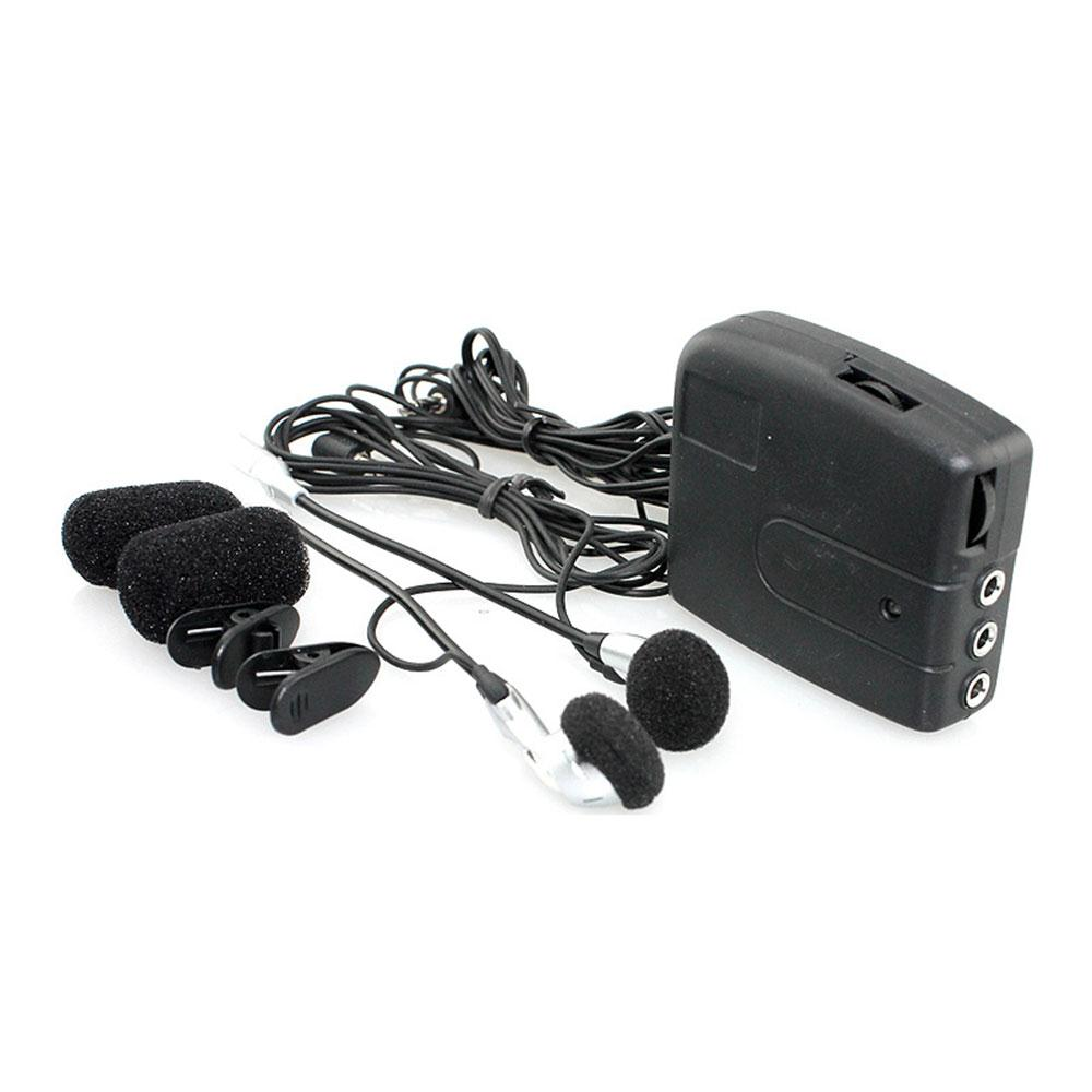 Motorcycle Kit Front Rear 2Riders Helmet-to-Helmet Intercom 150mw With Headset