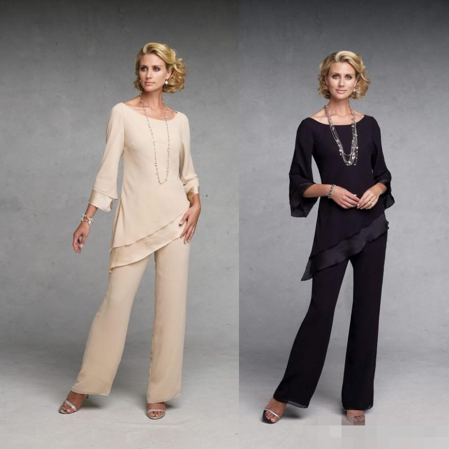 Popular mother of the bride pant suits buy cheap mother of for Dress pant outfits for wedding