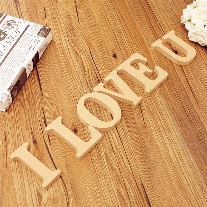 Wooden Letters Alphabet Puzzle Lovely DIY Wood Wall Hanging Nursery ...