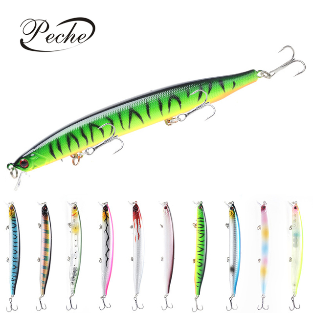 Cheap Peche Floating Big Minnow Fishing Lures Wobblers Crankbaits for Topwater Carp Fishing 3D Eyes ABS Plastic Hard Baits Pesca Isca