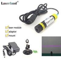 16x88mm Violet/Purple 405nm 200mW Laser Line Generator Module Projector w/Adapter
