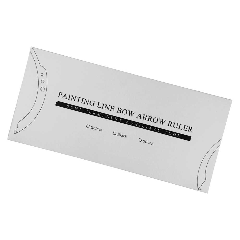 Новый микроблейдинг маркер линии линейка с 15 шт предварительно сделанная нитка дизайн бровей измерительный инструмент измерения перманентные принадлежности для макияжа