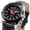 Alexis Аналоговые кварцевые наручные часы с круглым циферблатом Japan Miyota Movement Black Geninue кожаный ремешок черный циферблат водостойкий