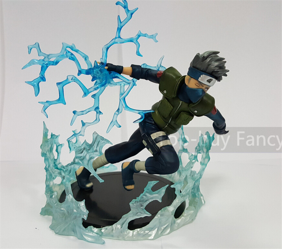 Naruto Action Figures Hatake Kakashi With Flash Aura Japanese Anime Figure Shippuden Movie PVC Figurine Toy