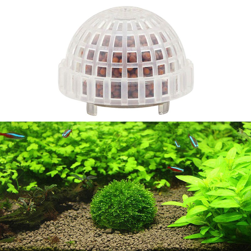 2020 Plastic Aquarium Decoration Live Plants Fish Tank Media Moss Ball Filter for Fish Tank Aquatic