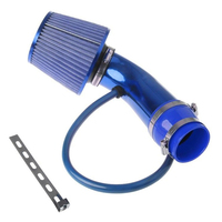 1pc Universal Car Engine Intake Pipe Cold Air Intake Filter Alumimum Alloy Induction Kit Pipe System