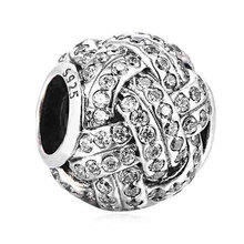 a5ee2846d219e Buy sparkling love knot pandora bead and get free shipping on ...