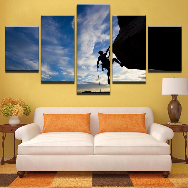 Canvas Painting Wall Art Kids Room Decor 5 Pieces Rock Climbing ...
