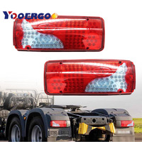 2pcs 120 led Rear Tail Lights LED Truck Lorry Trailer For Scania Volvo DAF MAN Iveco