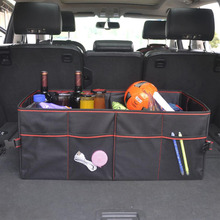 Car Organizer Trunk Collapsible Toys Food Storage Truck Cargo Container Car Stowing Tidying Rear Rack Storage Box Oxford Cloth new car multi pocket organizer black trunk toy food folding storage truck cargo container bag box auto accessory stowing tidying