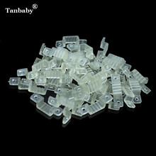 Tanbaby 10mm 12mm Silicon Clip Mounting Brackets For Fixing 220V 3528 5050 3014 RGB Transparent LED