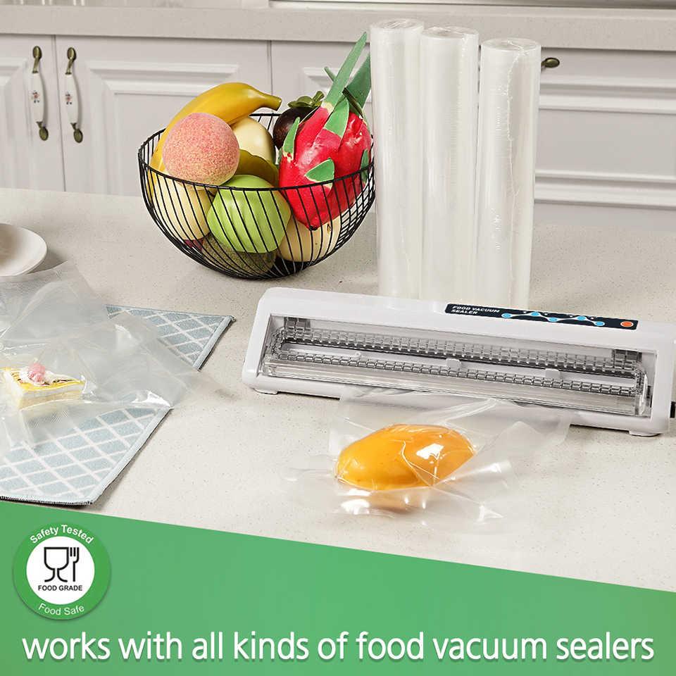 LAIMENG 5 rulo Sous Vide için rulo çanta vakum paketleme makinesi ambalaj gıda depolama vakum torbaları için vakumlama makinesi R129