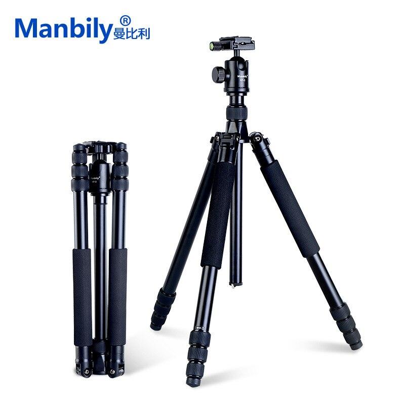 Manbily AZ611 Magnalium Alliage Pro trépied pour reflex numérique trépied de caméra Monopode Avec KF0 Rotule plaque qr et Tube Épais Plus Stable