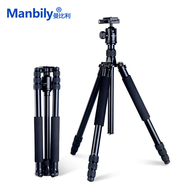 Manbily AZ611 Magnalium Alloy Pro Tripod For DSLR Camera Tripod Monopod With KF0 Ball Head QR Plate and Thicker Tube More Stable zomei z888 portable stable magnesium alloy digital camera tripod monopod ball head for digital slr dslr camera