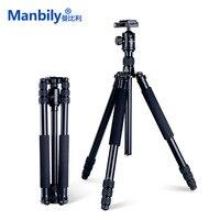 Manbily AZ611 Magnalium Liga Pro Tripé Para DSLR Camera Tripod Bola Cabeça Monopé Com KF0 QR Placa e Tubo Mais Grosso mais Estável