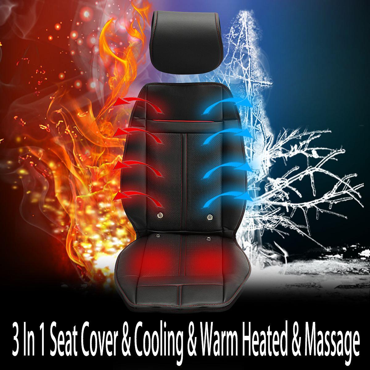 Фотография 3 In 1 Auto Car Heated Seat Covers Pad Electric Cushion Ventilation w/ Cooling Warm Heated & Massage