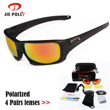 JIEPOLLY TR90 Polarized Tactical Glasses Men Women Cycling Glasses MTB Bicycle Bike Sunglasses Outdoor Sport Cycling Eyewear