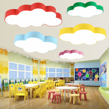 Cloud ceiling light simple modern led children's room bedroom ceiling lamp creative kindergarten nursery playground cartoon lamp(China)