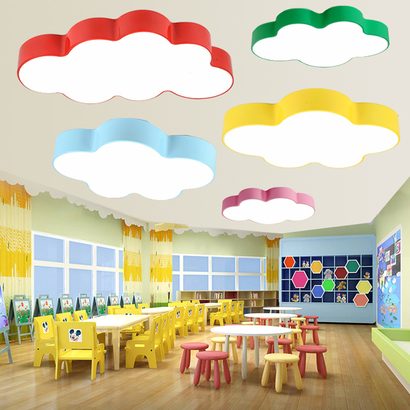 Cloud ceiling light simple modern led children's room bedroom ceiling lamp creative kindergarten nursery playground cartoon lamp