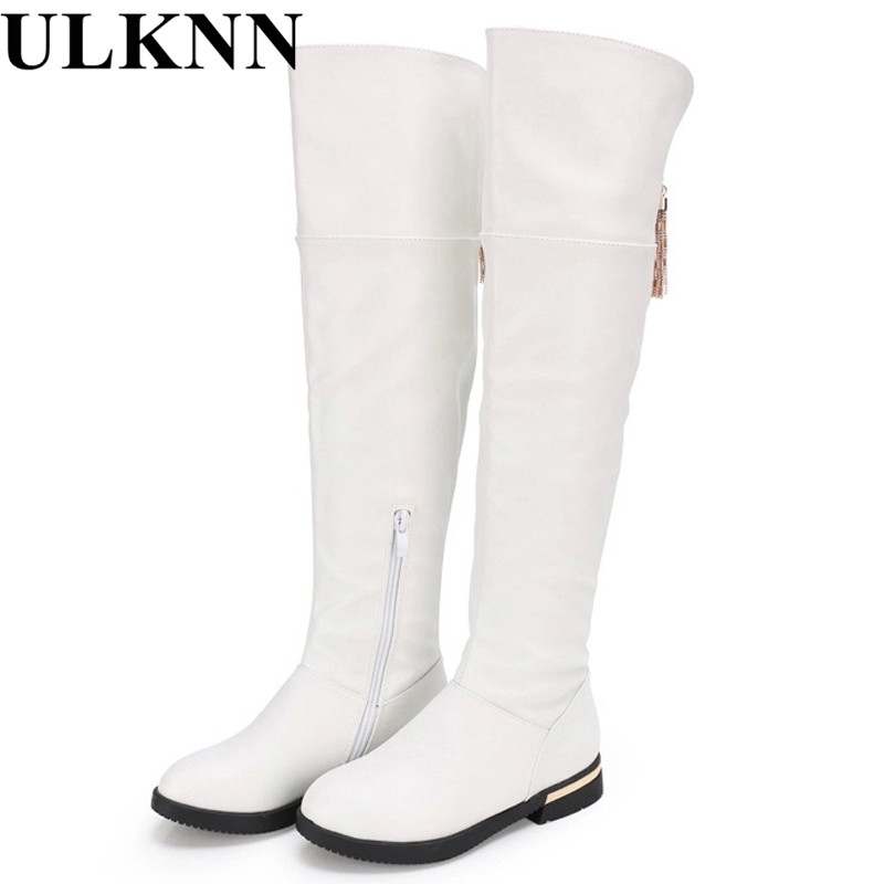 ULKNN Boots for girls genuine leather thigh high boots Girls for winter  kids shoes children s snow child ever after high boots-in Boots from Mother    Kids ... 3ebdf4004af8