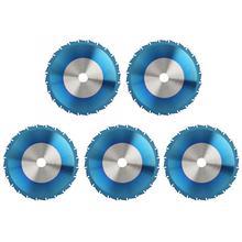 85*10/85*15mm Carbide Blauw Plating Cirkelzaag Zaagblad Disc voor Hout Zachte Metalen houtbewerking Snijgereedschap