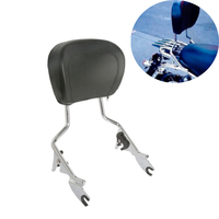 Motorcycle Detachable Sissy Bar Passenger Backrest W/Pad For Harley Davidson Touring 09 18 Road Street Glide Road King 2009 2018