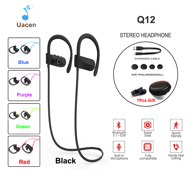 Q12 Bluetooth Headphones Wireless Earbuds Stereo Sports