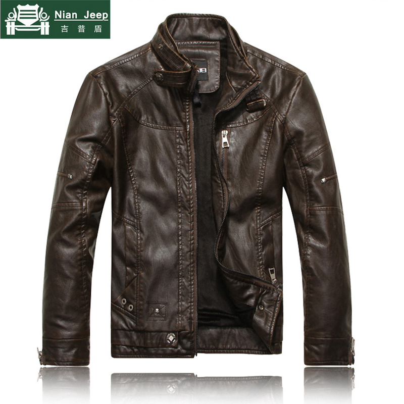 2018 Brand New Motorcycle Style Leather Jackets Men jaqueta de couro masculina Bomber leather jacket Mens veste homme Size M-3XL
