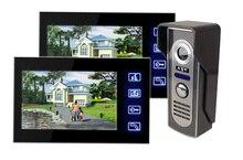 Freeshipping Wired doorphone Video Door Phone Intercom Doorbell Home Security Camera Monitor digital doorbell waterproof