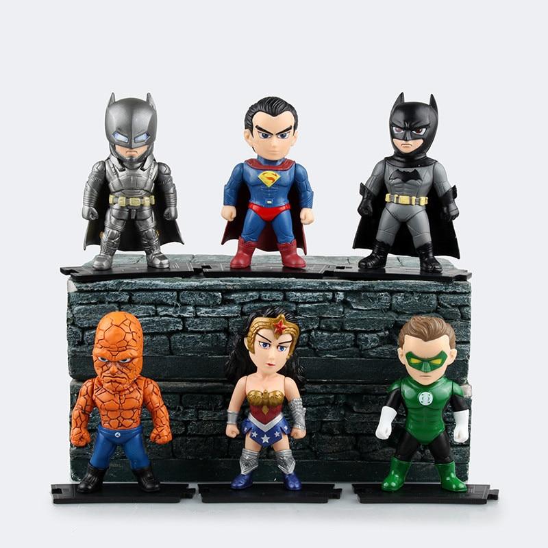 9cm Justice League Superman Wonder Batman Lantern Thing Collectors ...