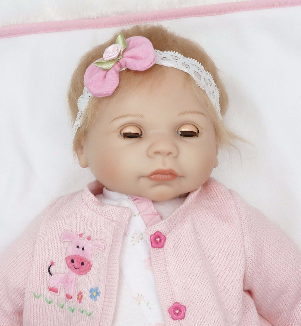 Lifelike Reborn Baby Dolls Girls Eyes Closed/&Open Realistic Baby Dolls Silicone