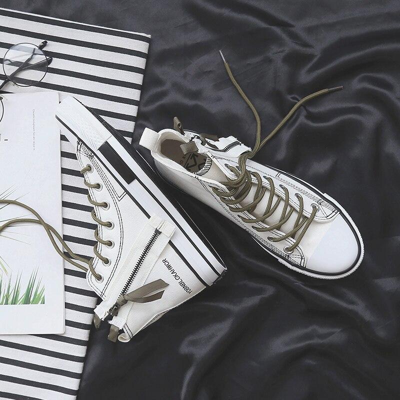 Haut Toile Étudiants Mode Qualité white De Arrivée Gamme Confortable Black Femmes Baskets Chaussures Extérieure Nouvelle Haute wHUAIv