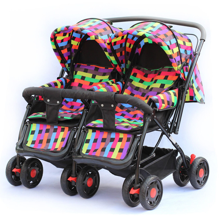 Baby carriage, Twins stroller, double stroller, super suspension twins strollers carrier pram