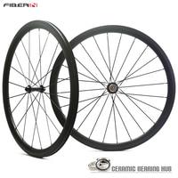 Free shipping ceramic bearings Carbon Road Wheels Clincher 700C Wheelsets 38mm wheels Road Bike wheels full carbon road wheels