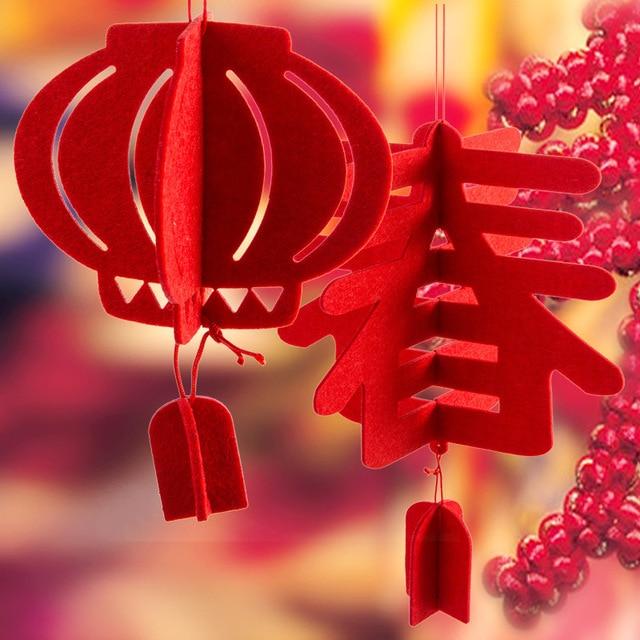 Heureux nouvel an lanterne goutte suspendue chinois for Decoration nouvel an chinois