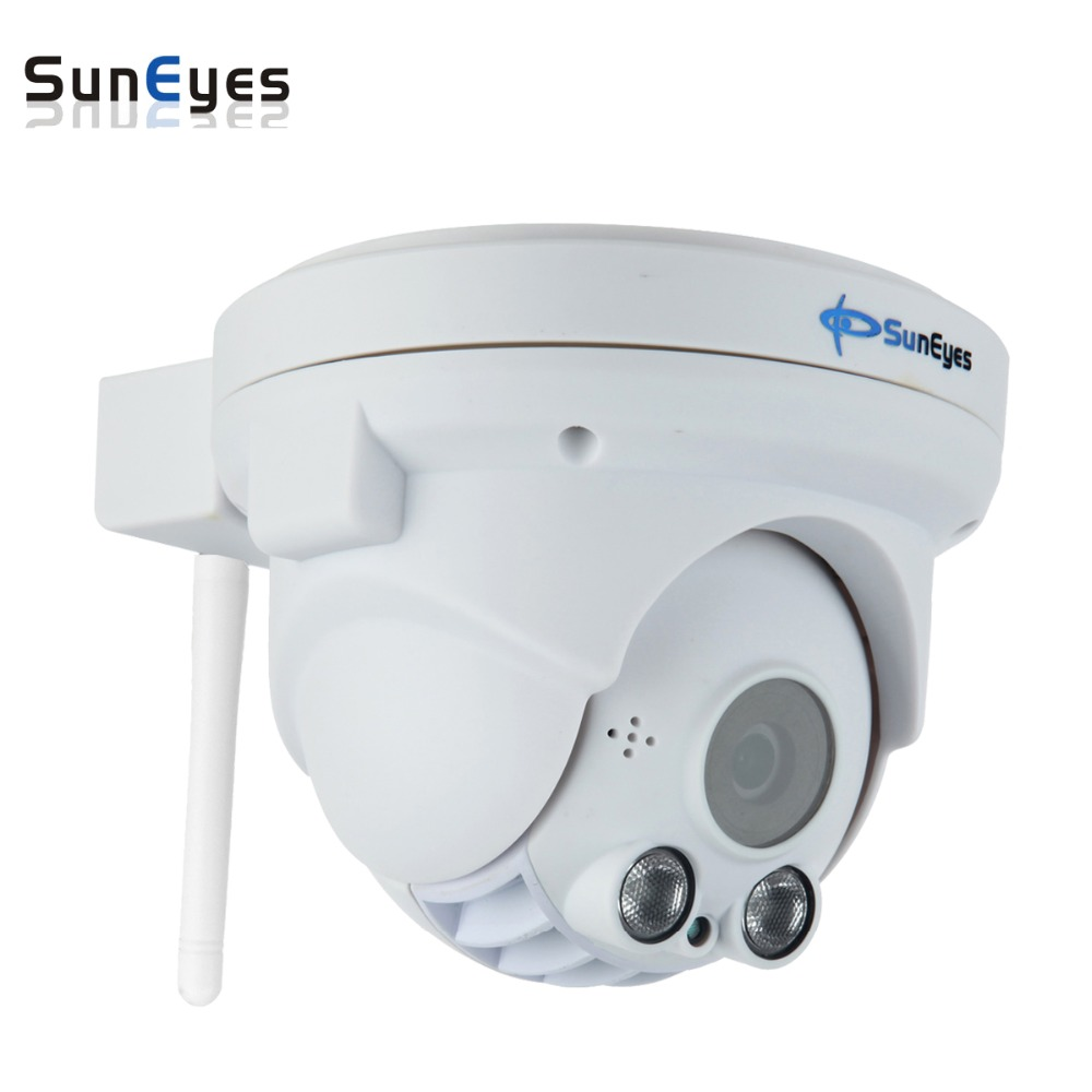 SunEyes  SP-P702WPT Wifi Wireless Pan/Tilt Dome IP Camera ONVIF 720P HD with TF/Micro SD Card Slot Two Way Audio Array IR Night 720p hd ip camera wireless wifi pan tilt two way audio p2p ir cut onvif cloud night vision micro sd card security cctv camera