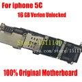 100% bom trabalho função completa original desbloqueado motherboard mainboard com chips de função completa para iphone 5c 16 gb