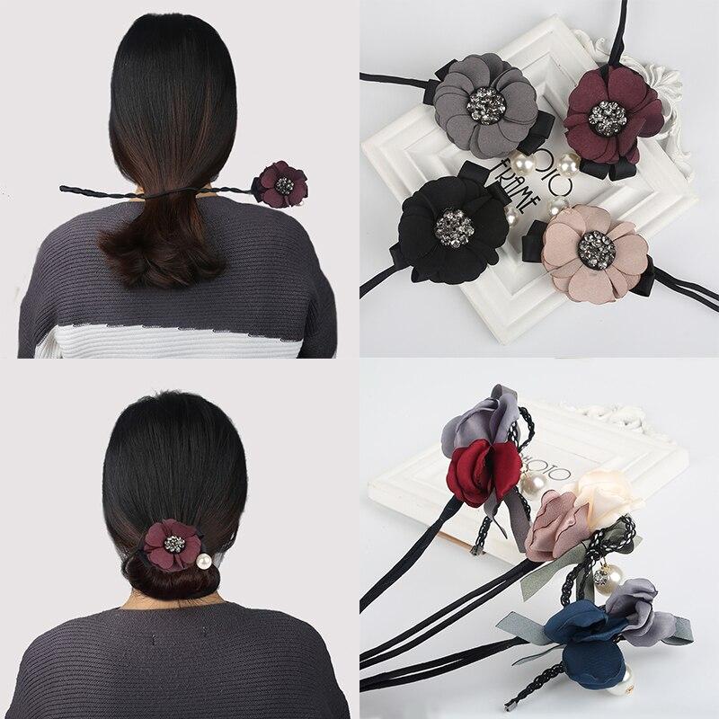 1 Pc Frauen Mädchen Beliebte Koreanischen Stil Große Blume Perle Haar Band Haar Seil Mode Haar Zubehör GläNzend