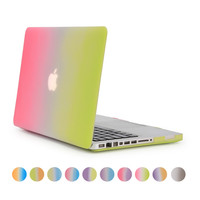 For Macbook 15 Inch A1286 Case Hard Plastic Full Protect Rose And Green Gradient Cover For