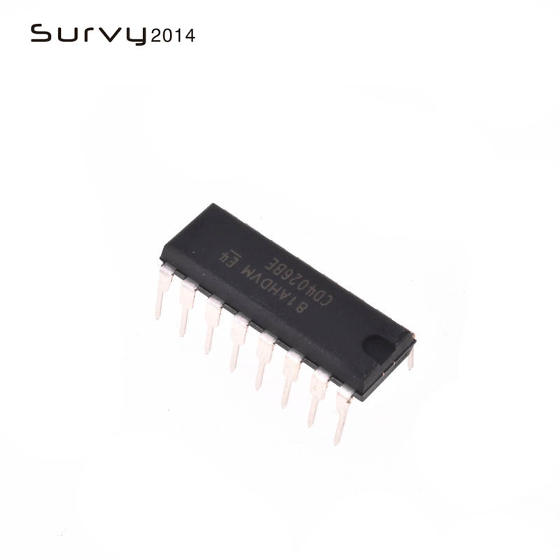10pcs/lot <font><b>CD4026BE</b></font> DIP-16 CD4026 CMOS Decade Counters/Dividers ic image