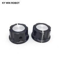 potentiometer knob 5pcs/lot MF-A03 A03 Potentiometer Knob Cap Inner 6mm 28x15mm Rotary Switch Bakelite Knob copper core inner for WHT118 WX050 (5)