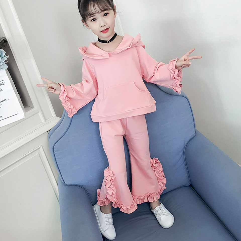 Spring Newborn Baby Girls Clothes Sets Fashion 2T-10 Hooded Coat + Pants Suits Autumn Wear Casual Suit Baby Girls Clothing Sets