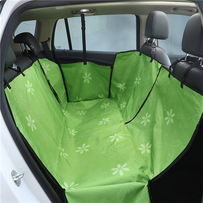 Pet Carriers Oxford Fabric Paw Pattern Car Pet Seat Cover Dog Car Back Seat Carrier Waterproof Pet Mat Hammock Cushion Protector Pet Products